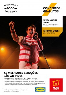 """Kind of Queen"" - Um tributo a Freddie Mercury e aos Queen no palco do MAR Shopping Matosinhos"